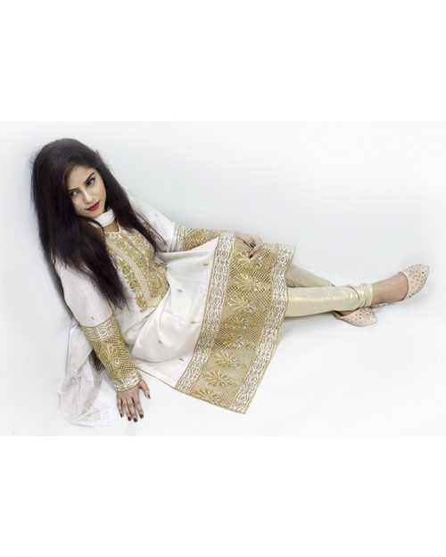 Cotton Net Embroidered 3 Piece Stitched