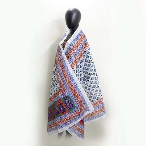 Embroidered Handmade Cotton Shawl,