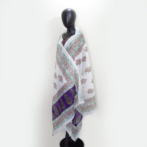 Embroidered Cotton Ladies Shawl