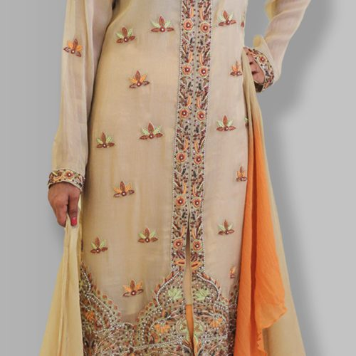 Skin Embroidered Party Wear 2018