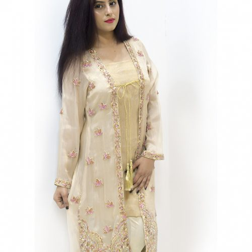 Maysurri Pink Embroidered 4 Piece Stitched