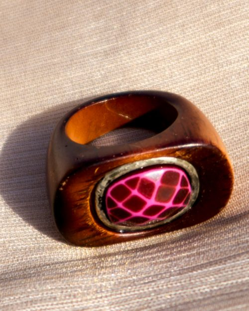 Pink Maroon Stone Ring