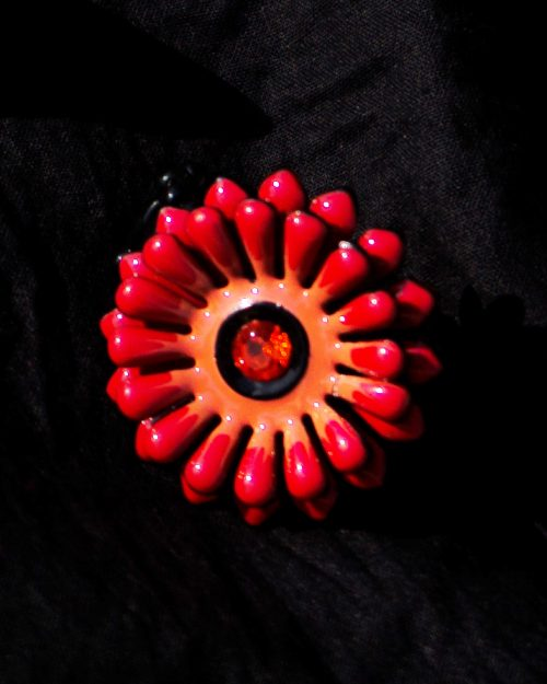 Red Flower Beautiful Ring