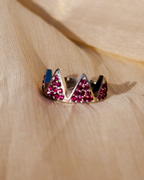 Pink Pearls Gold Plated Ring