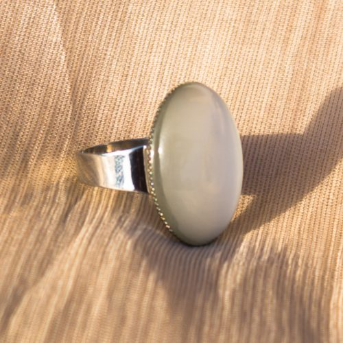 White Stone Gold Plated Ring