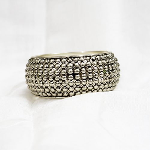 Silver Metal Bangle Balls Shape
