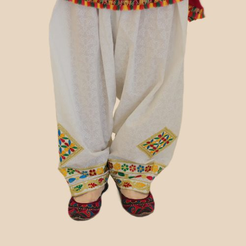 Embroidered Phulkari Shalwar